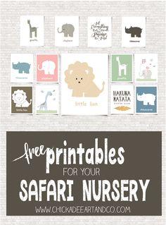 Free Printables for your Safari Nursery-01