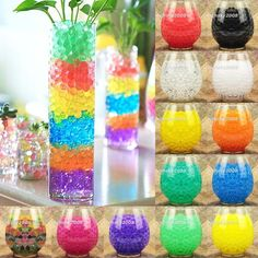 Colorful Water Plant Flower Jelly Crystal Soil Mud Hydro Gel Pearls Beads Balls #Unbranded