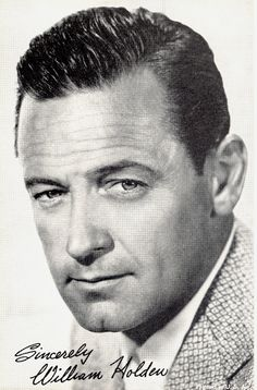 William Holden, I wish I could remember the name of the movie he was in with Audrey. It was Sabrina.