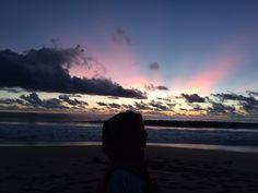 Beautiful sun was set on pangumbahan beach  Pangumbahan beach, Sukabumi Jawa Barat Indonesia