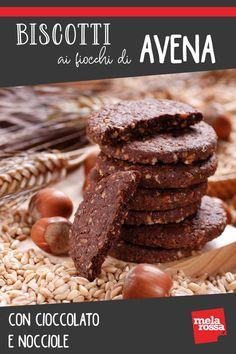 Oatmeal cookies with chocolate and hazelnut Healthy Cake, Vegan Cake, Healthy Desserts, Vegan Sweets, Sweets Recipes, Cookie Recipes, Biscotti Cookies, Oatmeal Cookies, Gluten