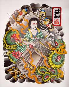 japanese tattoo print - Google Search