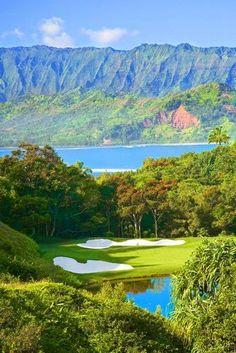 Makai Golf Course Princeville at Hanalei Kaui Hawaii