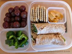 Veggies, Fruit, Turkey/Provolone/Lettuce Roll Up, Hummus, Whole Wheat Crackers