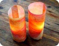 watercolor lanterns - great for fall fairy garden lantern walk!