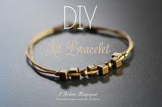 Kit Bijoux Bracelet cordon et perles bronze à réaliser soi même -DIY- : Kits, tutoriels bijoux par arbremagic