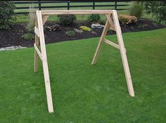 A & L Furniture Co. A-Frame Swing Stand for Swing or Swingbed - Ships Free in Business days Lawn Swing, Wood Swing, Outdoor Living Furniture, Porch Furniture, Red Cedar Wood, Western Red Cedar, A Frame Swing, A Frame House, Wood Dust