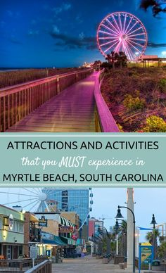 The Myrtle Beach, South Carolina Boardwalk has plenty of Hotels, Attractions, and Restaurants to suit any Family Trip! Myrtle Beach Sc, Myrtle Beach Things To Do, Myrtle Beach Boardwalk, Myrtle Beach Vacation, Myrtle Beach South Carolina, Myrtle Beach Attractions, North Carolina, Mrtyle Beach, Beach Trip