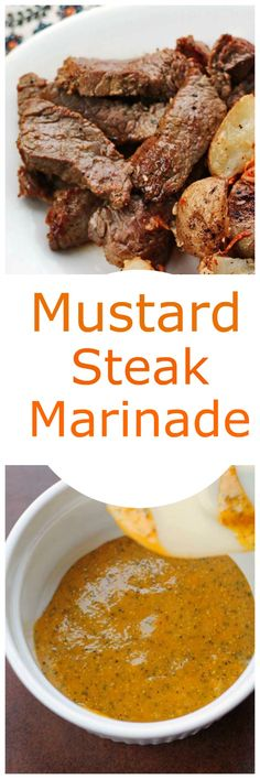 Mustard Steak Marinade will tenderize your steak,chicken or pork chops and give you wonderful flavor on the grill. Mustard Steak Marinade will tenderize your steak,chicken or pork chops and give you wonderful flavor on the grill. Grilling Recipes, Meat Recipes, Cooking Recipes, Healthy Recipes, Cooking Kale, Game Recipes, Sandwich Recipes, Healthy Food, Recipies