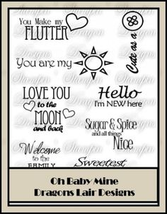 Oh Baby Mine Collection - WordArt