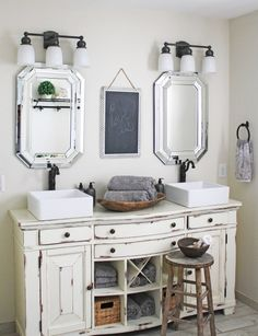 coastal farmhouse meets french country farmhouse vanitycoastal farmhousefarmhouse bathroomsfrench - Farmhouse Bathroom Vanity
