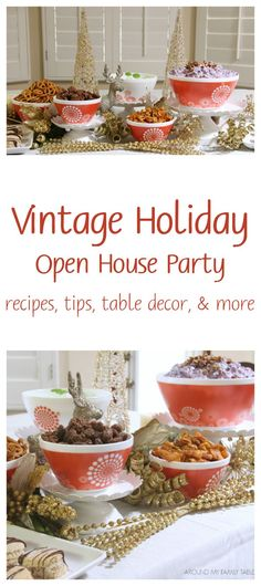 Recipes Tips For Throwing A Vintage Holiday Open House Party Ad