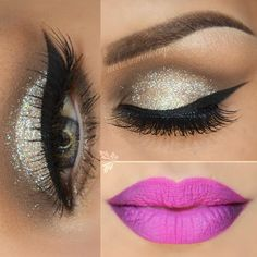 Hi gorgeous here is an options for NYE by @auroramakeup Using SAFARI & SORBET palettes by motivescosmetics. Also gel eyeliner in LBD & glitter DIAMOND on top! source