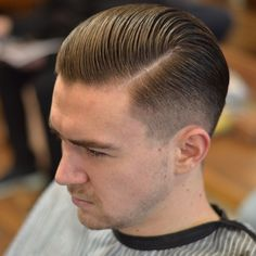 """#savillsbarbers by Savills barber @jamesbettsybetts with @officiallayrite pomade supplied by @truebarberproducts #barber #barberlife #barbershop #hardpart…"""