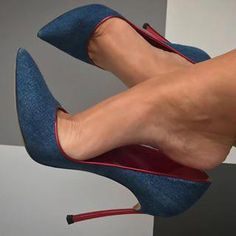Image may contain: one or more people, people sitting and shoes Stilettos, Stiletto Heels, Pumps, Sexy Legs And Heels, Hot Heels, Beautiful High Heels, Louboutin, Killer Heels, Fashion Heels