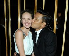 Swarovski Official After Party Of The 2013 CFDA Fashion Awards: Candice Swanepoel and Prabal Gurung
