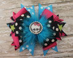 Monster High Skull Bottle Cap Hair Bow by SkyLynnClips on Etsy, $10.00