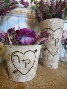 Short Birch Bark Vase- Just Featured on Modern Home Modern Baby. $17.50, via Etsy.