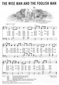 I remember singing this song in church when I was small. There is a message for adults in this simple song, build on a firm foundation with God. Bible Songs For Kids, Music Lessons For Kids, Bible Lessons, Children Songs, Children's Church Songs, Church Music, Gospel Music, Music Songs, Camp Songs