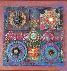 Laurie Mika-polymer clay quilt