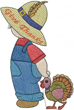 Turkey Boy Embroidery Design | AnnTheGran
