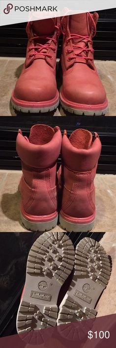 Timberland shoe In very good condition with few marks the color is in the salmon family Timberland Shoes Combat & Moto Boots
