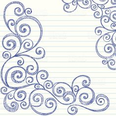 Sketchy Swirls Notebook Doodles Vector royalty free stockvectorbeelden