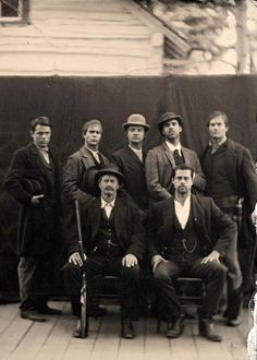 The James gang, with Brad Pitt as Jesse. The Assassination of Jesse James by the Coward Robert Ford. It was in Pitt's contract that the film would retain the full title of Ron Hansen's source novel.