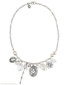 You can just feel the magic of this captivating #Necklace. #Cubic #Zirconia, #Pearl, #Mother-of-Pearl, #Glass, #Sterling #Silver. #Silpada #Jewelry