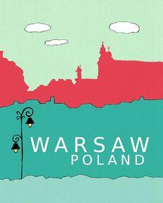 Warsaw Poland // Modern Baby Nursery Decor by LisaBarbero on Etsy