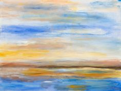 Blue Waterscape by Dimitri Vegicoff ArtSpecifier: Linking artists with designers, architects, art consultants and art lovers worldwide.