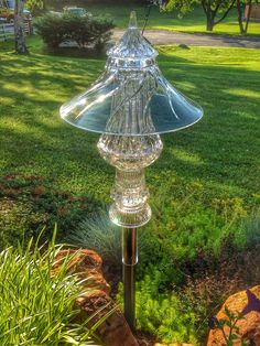 Glass Pagoda from repurposed glass