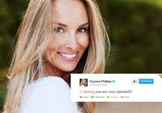 Feedback of the Wife, mom, singer, songwriter, actress, and philanthropist Chynna Phillips was born to musicians John and Michelle Phillips of famed 60's group The Mamas and The Papas.  Feedback Chynna Phillips . Esposa, mãe, cantora, atriz, compositora, e filantropa filha dos músicos John e Michelle Phillips do grupo 60, o famoso The Mamas and the Papas.