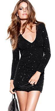 H Black Sparkle Dress Stylish Dresses, Sexy Dresses, Cute Party Outfits, Black Sparkle Dress, Anniversary Dress, Chic Dress, Passion For Fashion, Dress To Impress, Womens Fashion