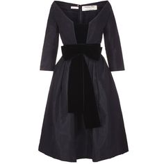 Sensational Christian Dior Black Taffeta Silk Dress with Velvet Sash 1 Vintage Fashion 1950s, Vintage Mode, Taffeta Dress, Silk Dress, Silk Taffeta, Vintage Outfits, Vintage Dresses, Trendy Dresses, Nice Dresses