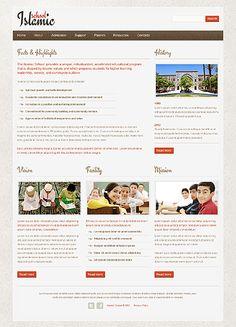 Islamic School Website Templates by Mercury