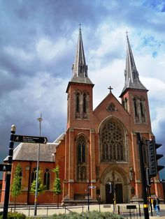 Birmingham. England. St. Chad's Catholic Cathedral in central Birmingham.