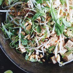 Idée de recette vagen : Salade de graines aux olives, vinaigrette citronnée