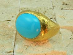 Men's ring with turquoise