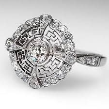 Image result for platinum antique engagement rings
