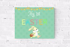 My 1st Easter Sign  Baby's First Easter  Happy Easter