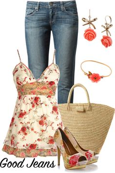 """Favourite jeans"" by milica-b3 on Polyvore"