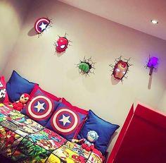 Marvel 3d wall art night lights bundle iron man hulk spiderman quarto do samuel aloadofball Image collections