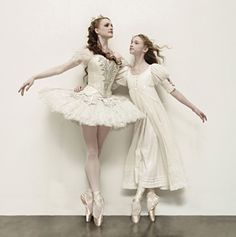 Gillian Murphy (left), principal dancer, American Ballet Theatre, and -Catherine Hurlin, student at ABT's Jacqueline Kennedy Onassis School, both as Clara in The Nutcracker.%0A