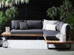 Outdoor Sofa Sets, Modern Outdoor Sofas, Modern Patio, Outdoor Seating, Corner Garden Seating, Corner Sofa Garden, Garden Sofa Set, Diy Sofa, Patio Lounge Furniture
