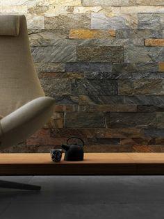 Wandfliesen verlegen Tipps Naturstein-Wanddesign