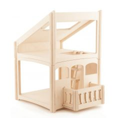 casetta per le bambole casa delle bambole in legno @ Hukkatoys
