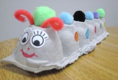 Lovely idea for a caterpillar craft: so easy and the kids will love it!