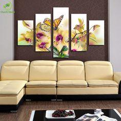 5-Panel-Large-Modern-Flower-font-b-Butterfly-b-font-font-b-Canvas-b-font-font.jpg (900×900)