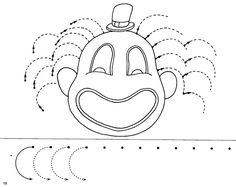 traç - Glòria P - Picasa Web Albums Preschool Circus, Circus Crafts, Preschool Writing, Tracing Worksheets, Preschool Worksheets, Printable Worksheets, Pre Writing, Writing Skills, Puzzle Photo